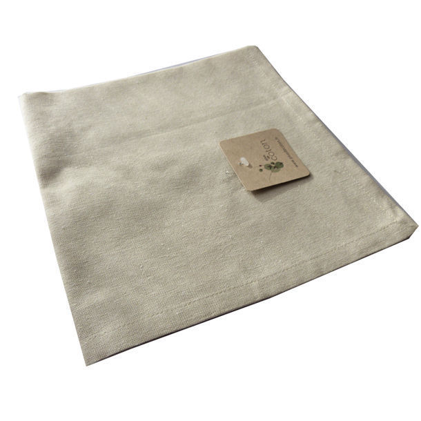 Serviette de table coton bio coloris cru - Serviettes de table coton ...