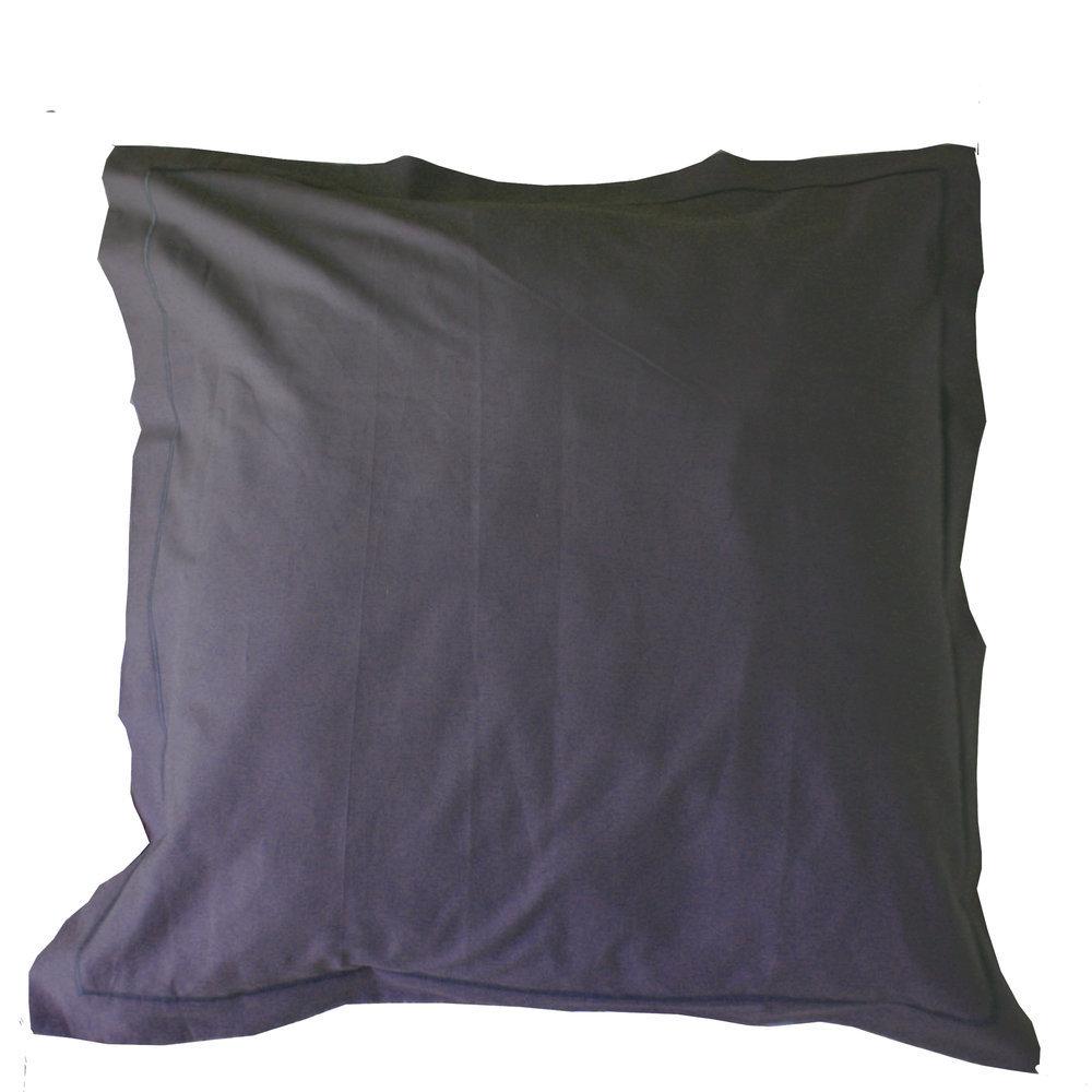 taie d 39 oreiller carr e 65x65 cm coton gris anthracite. Black Bedroom Furniture Sets. Home Design Ideas
