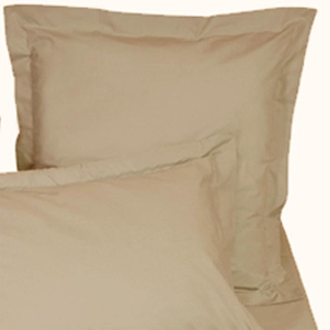 taie d 39 oreiller percale de coton bio carr e beige aurore. Black Bedroom Furniture Sets. Home Design Ideas