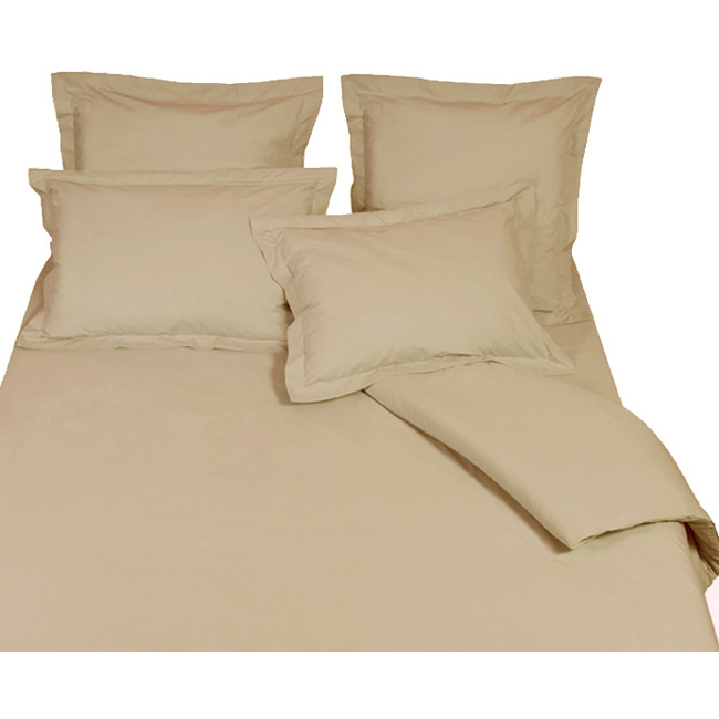 housse de couette percale de coton bio beige aurore. Black Bedroom Furniture Sets. Home Design Ideas