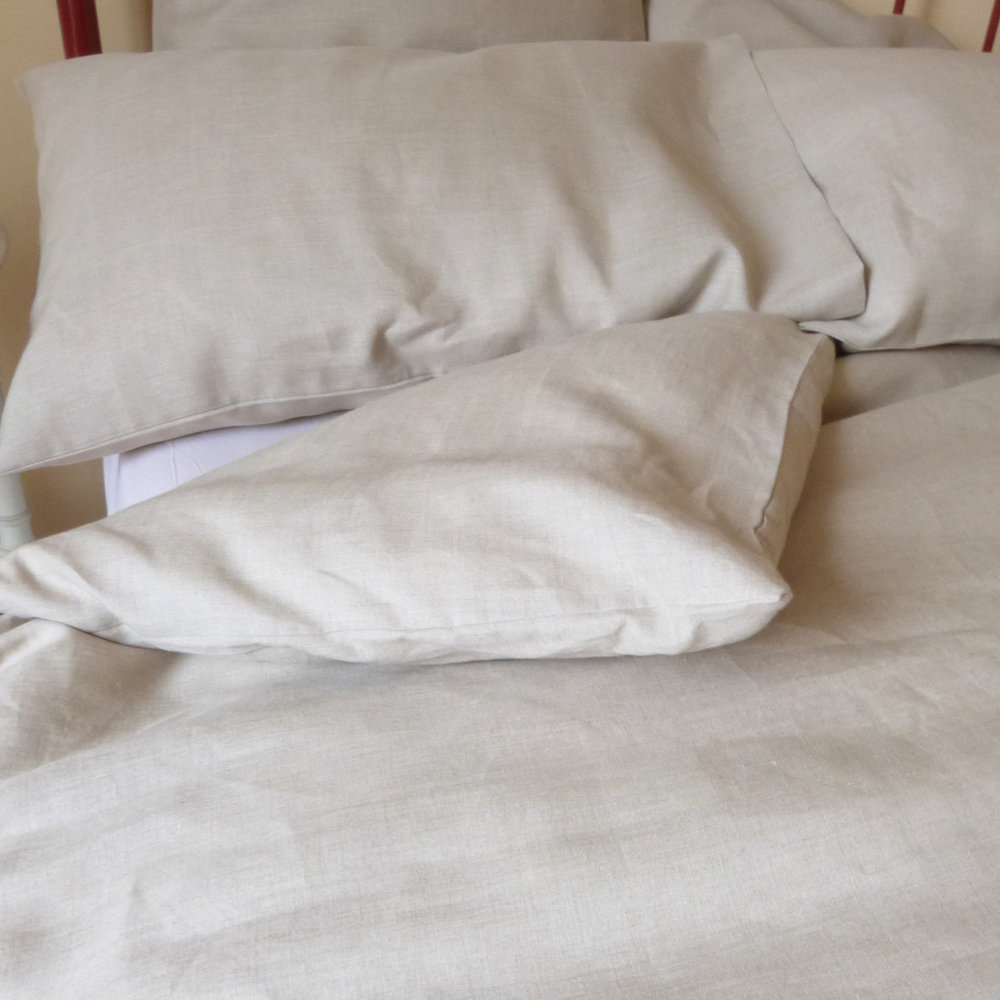Housse de couette lin washed linen duvet cover chalk le for Housse de couette en lin solde