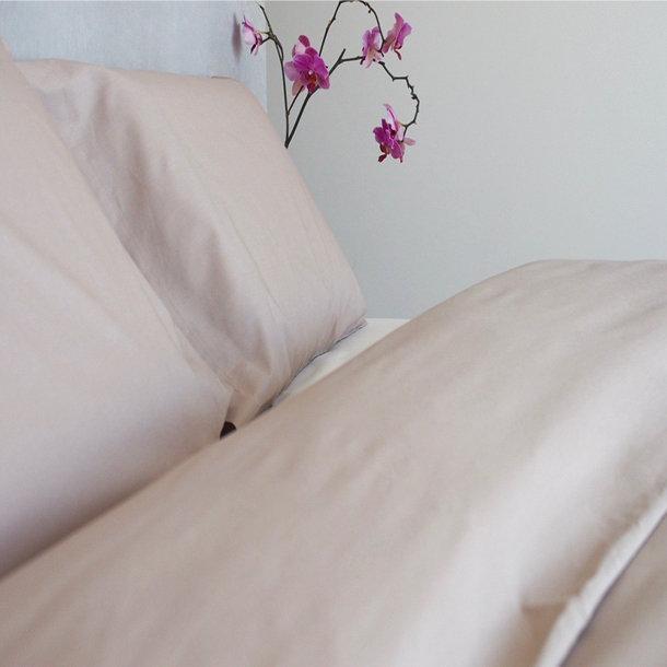 housse de couette en percale de coton bio coloris taupe. Black Bedroom Furniture Sets. Home Design Ideas