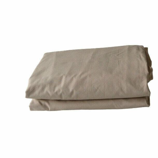 drap housse taupe en percale de coton bio. Black Bedroom Furniture Sets. Home Design Ideas