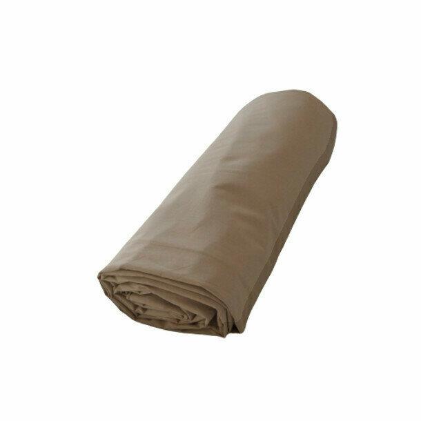 Drap housse taupe en percale de coton bio for Drap housse en percale de coton