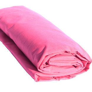 drap housse en coton coloris fuchsia. Black Bedroom Furniture Sets. Home Design Ideas