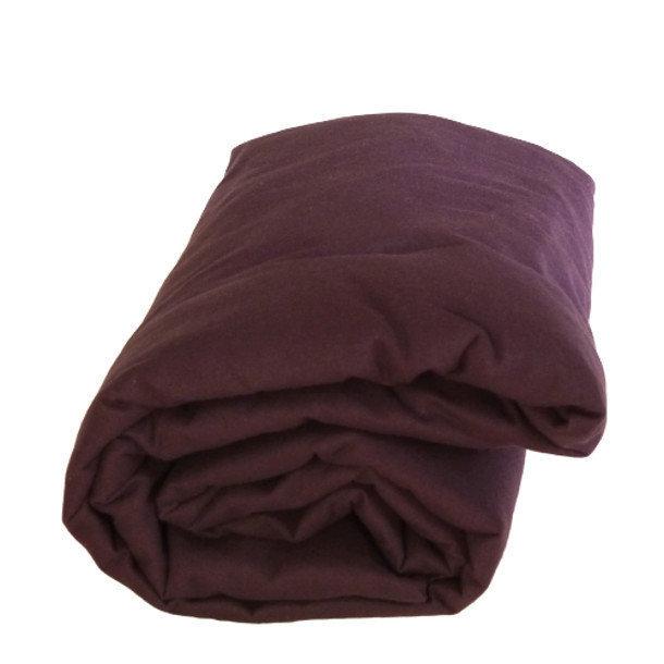 drap housse coloris violine pur coton. Black Bedroom Furniture Sets. Home Design Ideas