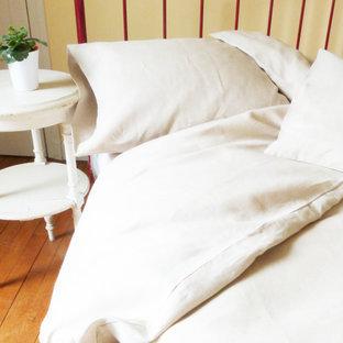 Housse de couette en lin coloris blanc - Housse de couette lin blanc ...