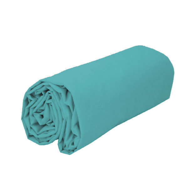 drap housse en coton coloris bleu canard bonnets 30 cm. Black Bedroom Furniture Sets. Home Design Ideas