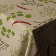 linge de table-coton bio-impression piments