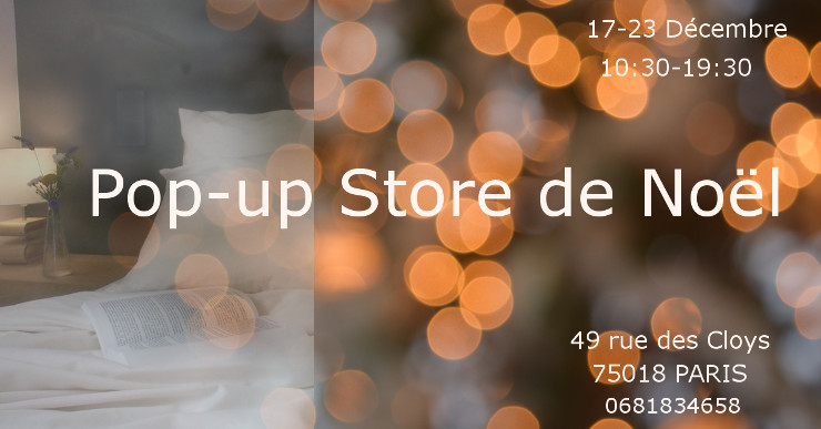 Pop-up Store de Noël- Plus de Coton