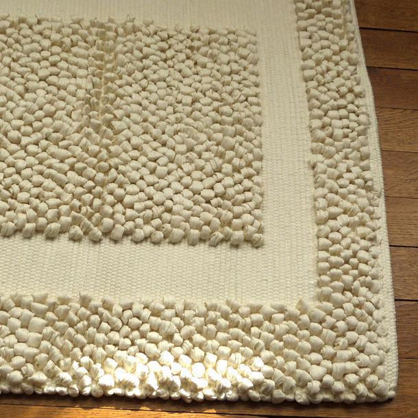 Tapis De Salle De Bain Beige : Tapis bain beige épais tissage artisanal effet massant