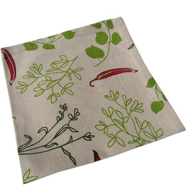 serviettes de table coton bio ligne piments. Black Bedroom Furniture Sets. Home Design Ideas