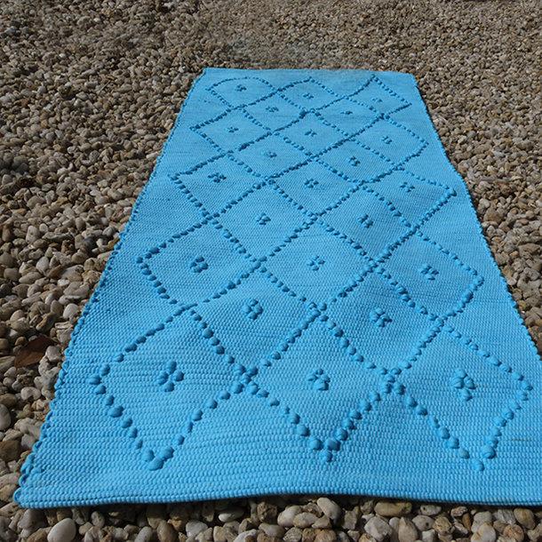 tapis bain 50x100 cm fibres recycl es turquoise. Black Bedroom Furniture Sets. Home Design Ideas