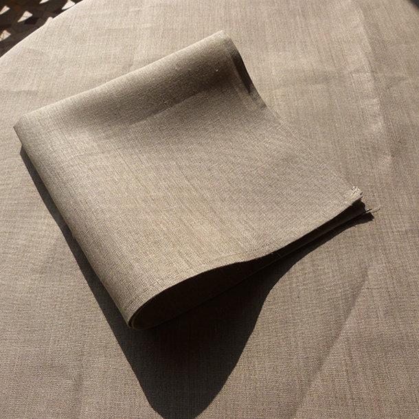 Serviette de table 100 lin coloris naturel - Serviette table lin ...