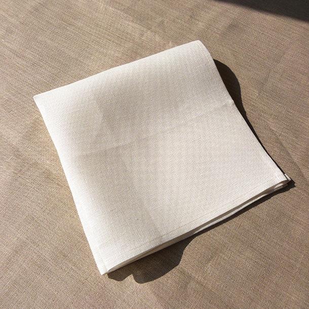 Serviette de table 100 lin coloris blanc - Serviette table lin ...
