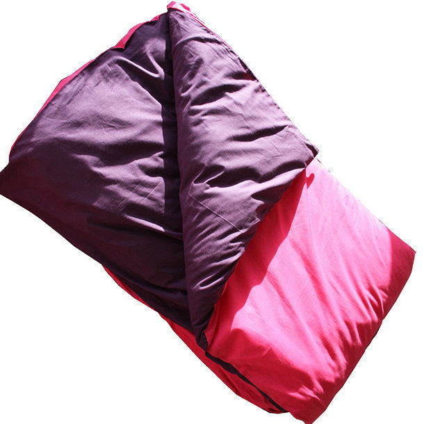 housse de couette bicolore coton fuchsia prune. Black Bedroom Furniture Sets. Home Design Ideas