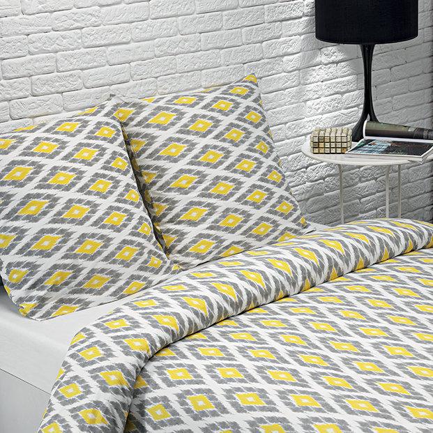 housse de couette grise et jaune milkncookies. Black Bedroom Furniture Sets. Home Design Ideas