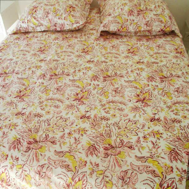 drap coton bio lit 2 personnes cashmere biobaroque. Black Bedroom Furniture Sets. Home Design Ideas