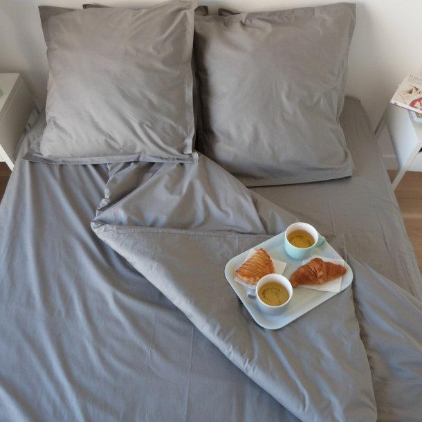 housse de couette grise percale coton bio aurore. Black Bedroom Furniture Sets. Home Design Ideas