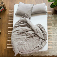 Housse de couette unie en lin lavé - Collection #lavie