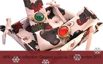 coton bio-collection gaspard-linge de maison -Noël